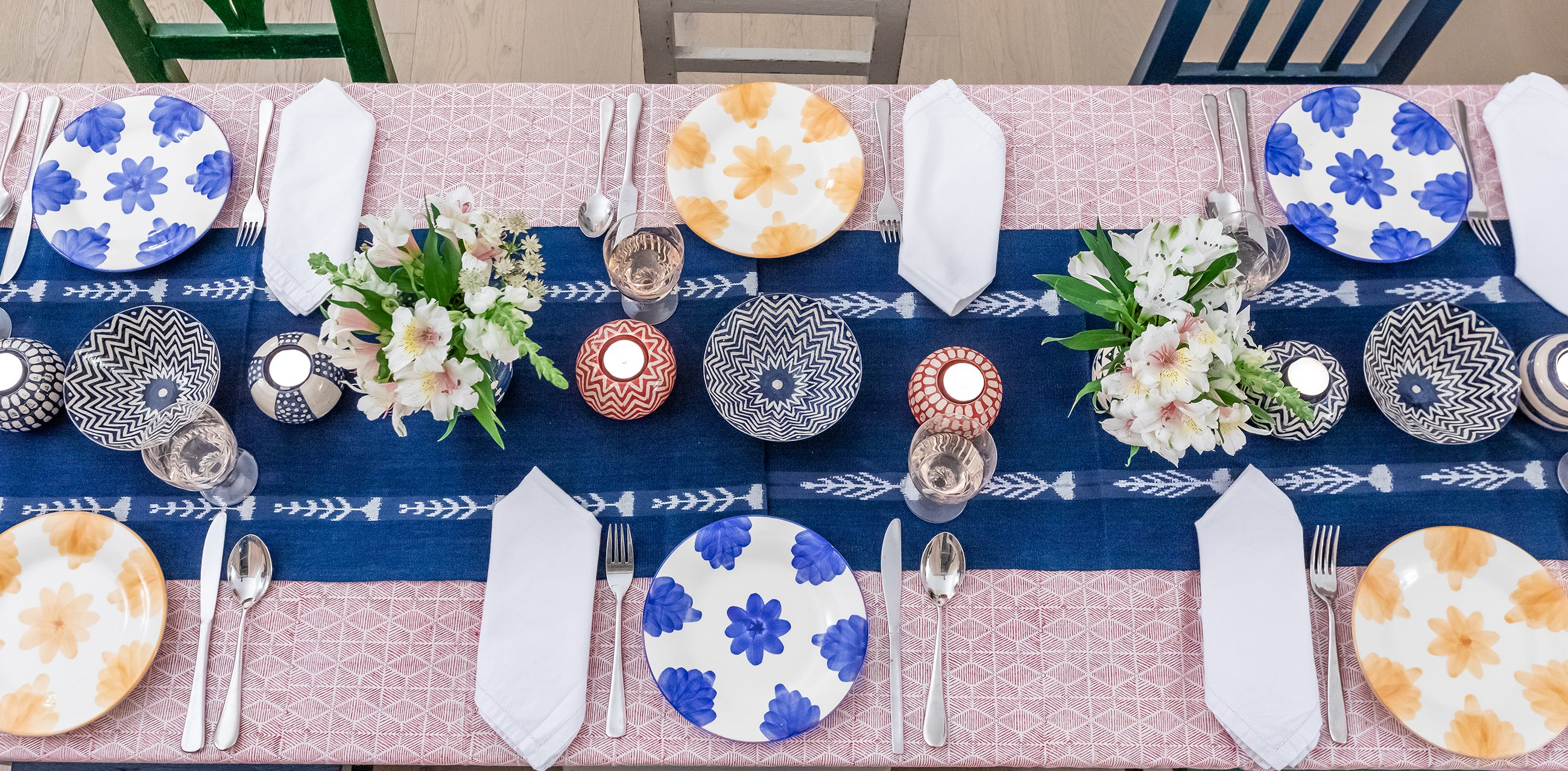 colourful tablecloths