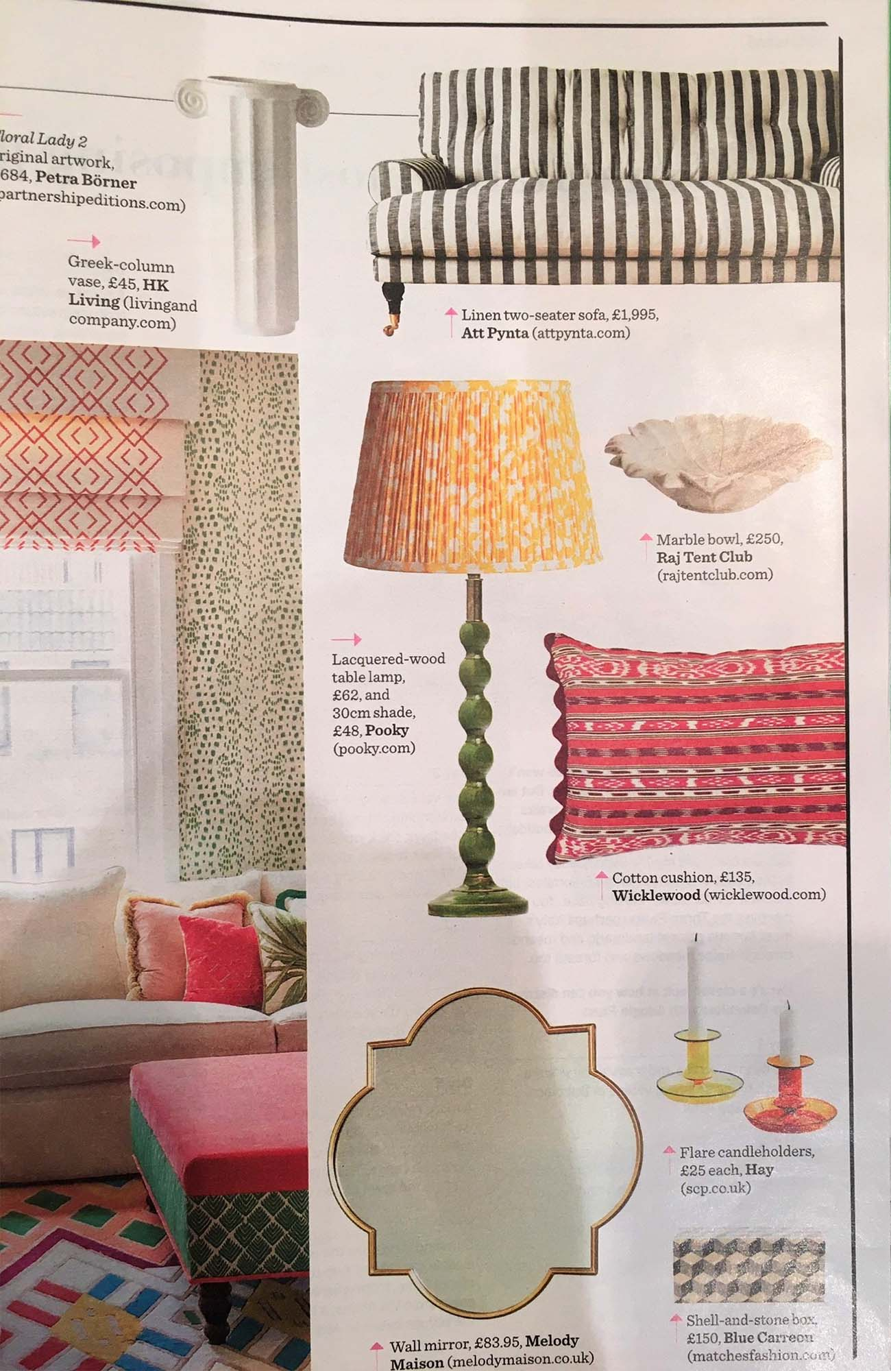 maya cushion featured in The Telegraph