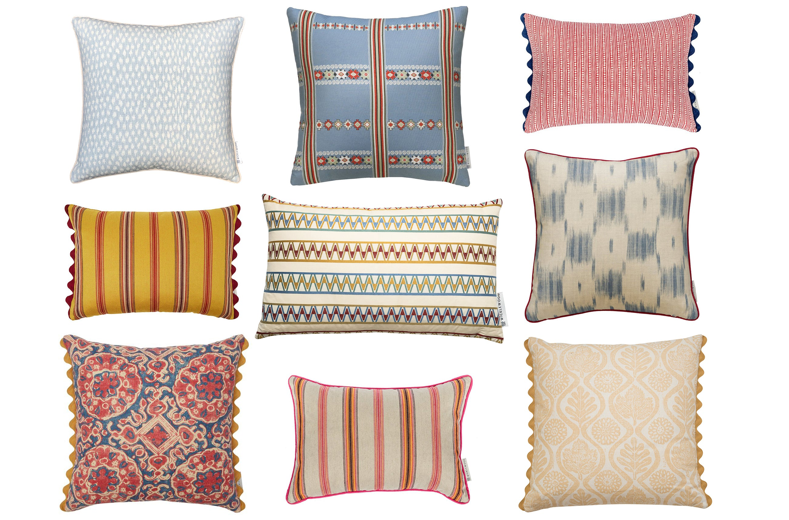 shop traditonal cushions by wicklewood