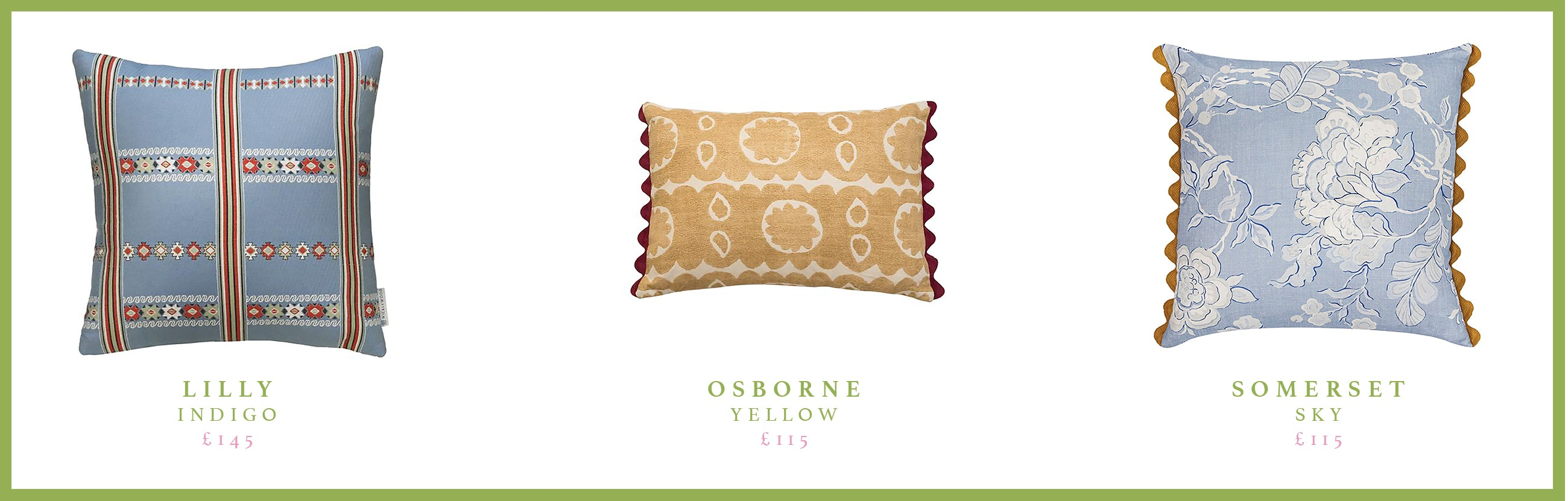 Willemien Bardawil's favourite Wicklewood cushions