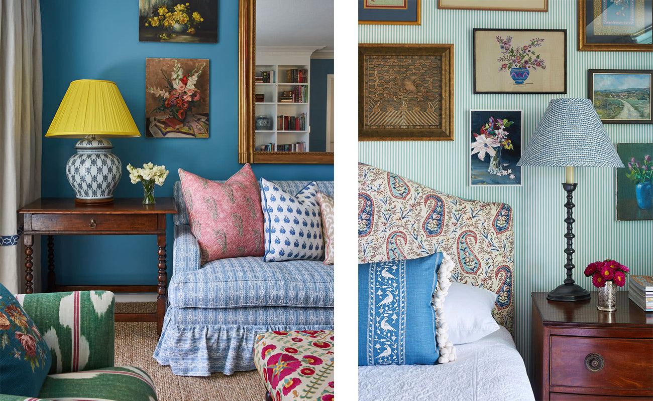 An Apartment in St Lucia by Anna Spiro. She likes to use pattern and colour an one-of-a-kind pieces in all of her projects