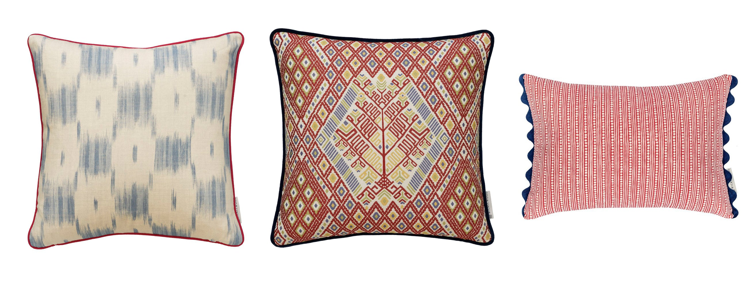 Shop Henry Prideaux wicklewood favourites: ikat colebrook, tree of life, wicklewood red