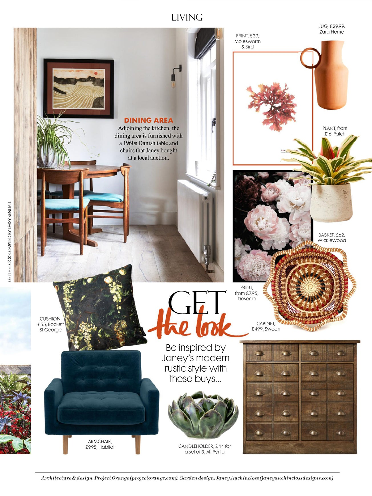 Wicklewood guatemalan basket featured in Red Magazine