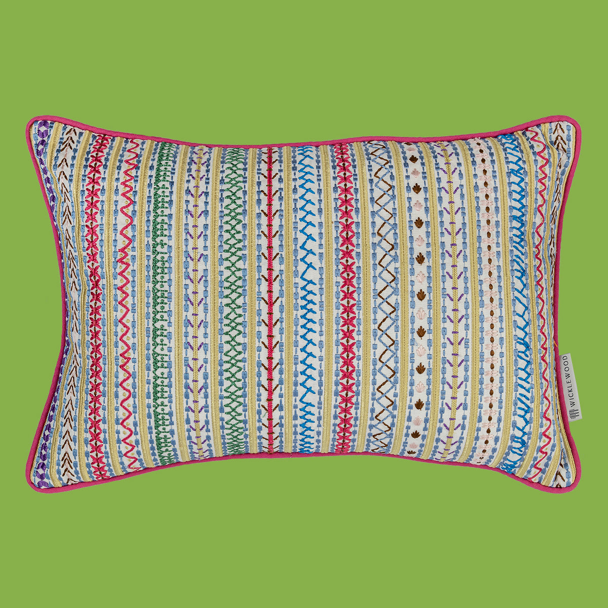 Wicklewood's colourful patterned throw cushions