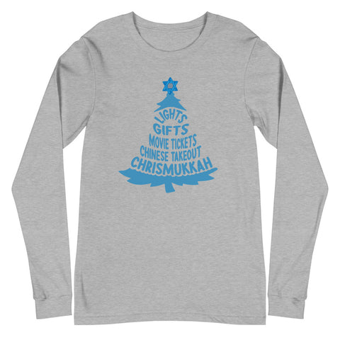 Jewish Winter Tradition (Unisex Long Sleeve Tee)