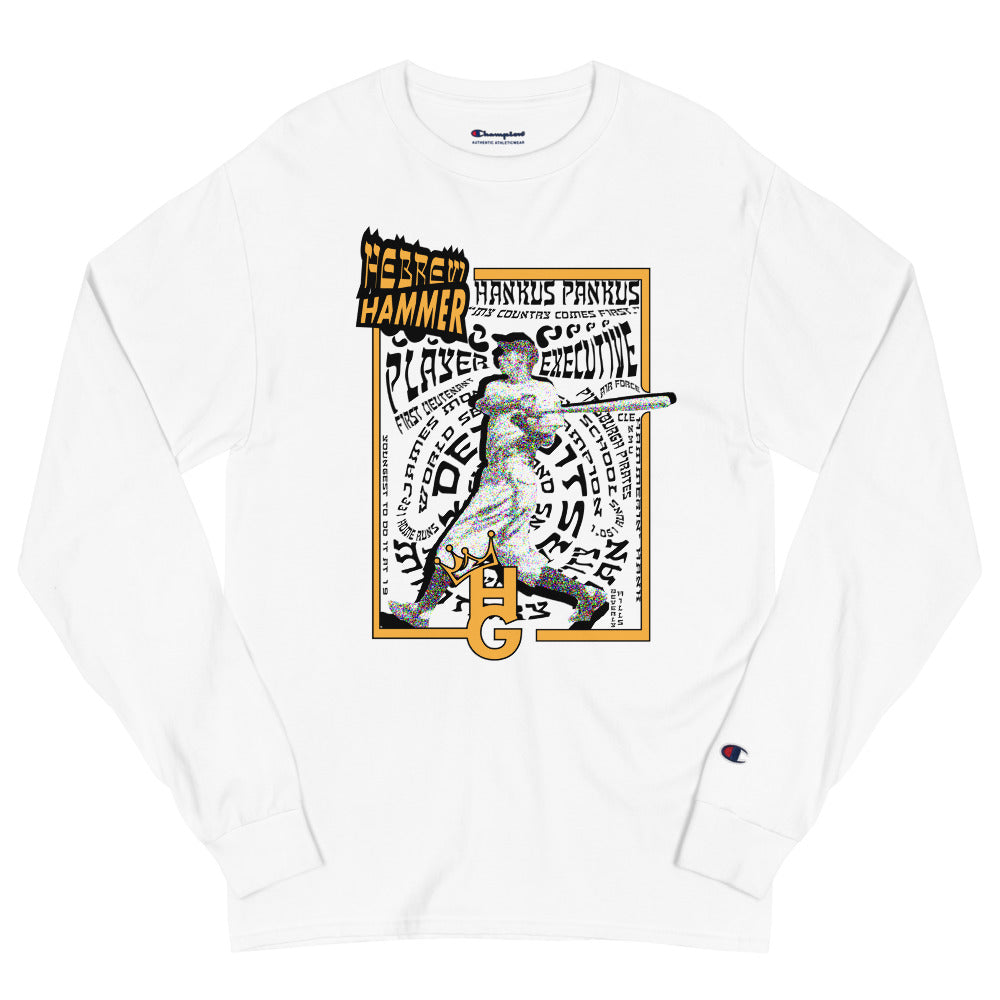 Hammerin' Hank (Men's Champion Long Sleeve Shirt)