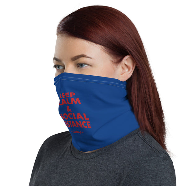 Keep Calm and Social Distance (Neck Gaiter)