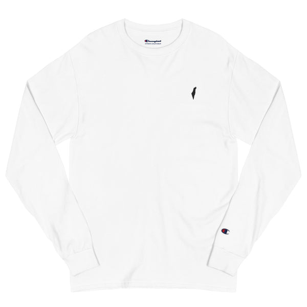 Men's Israel Map Champion Long Sleeve Crew