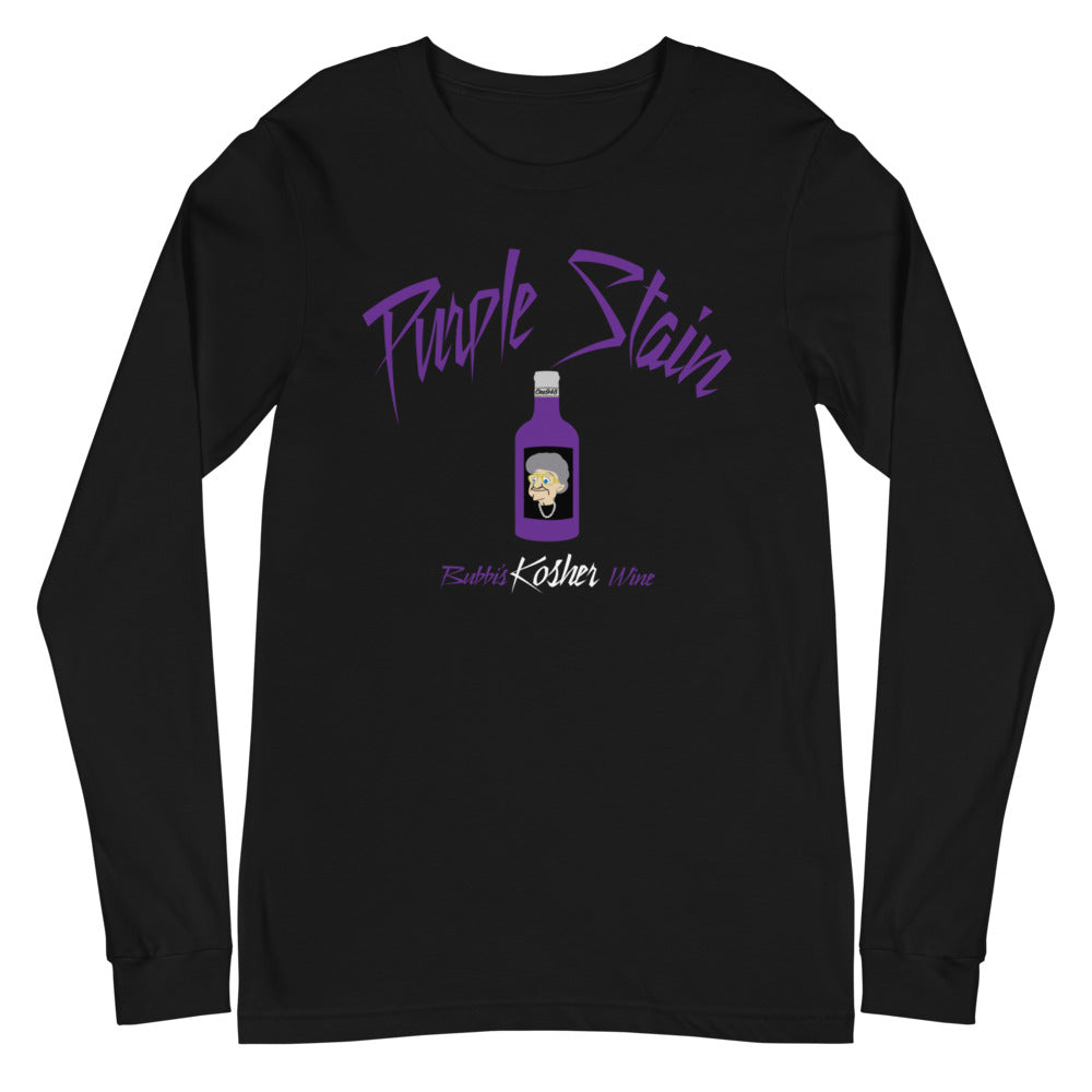 Purple Stain Kosher Wine (Unisex Long Sleeve Tee)