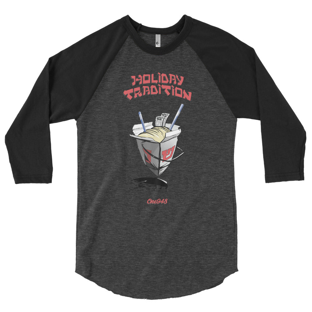 Men's Hanukkah Holiday Tradition 3/4 Sleeve Raglan Crew