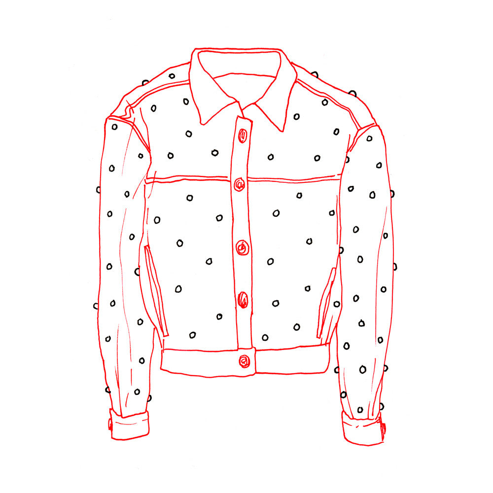 ISABEL MARANT PINK STUDDED DENIM