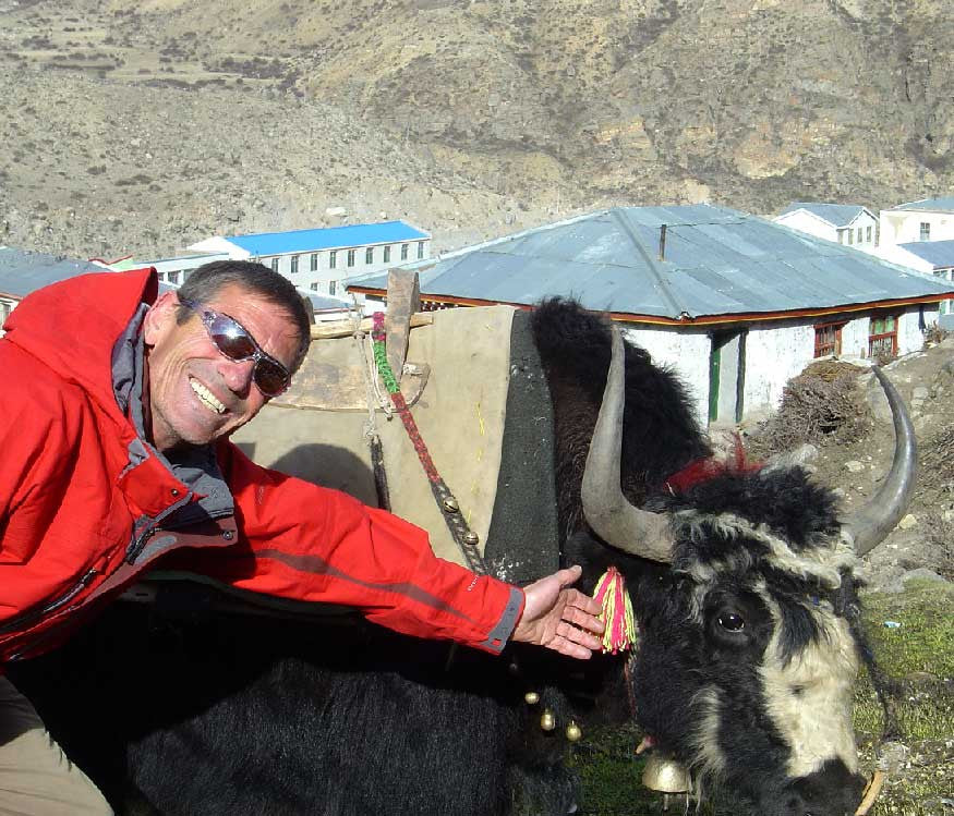 Rudi withYAK in TIBET