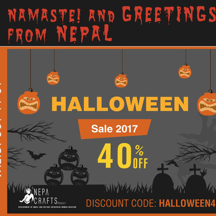 Halloween Trick or Treat  Namaste & Greeting from Nepal