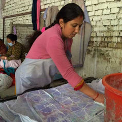 Shova Dahal-Felting, Dyeing and Quality Control