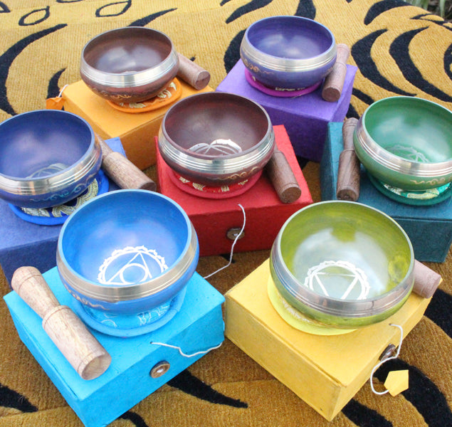 Singing bowls, sound therapy, meditation