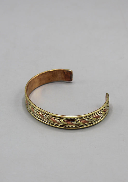 Tibetan Three Metal Adjustable Bracelet