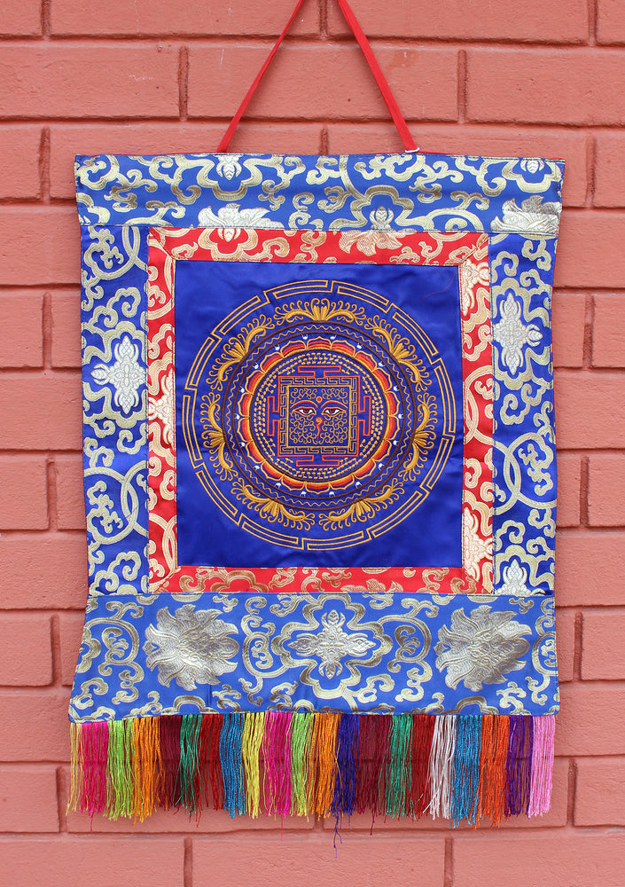 Buddha Eyes Mandala Embroidered Tibetan Wall Hanging