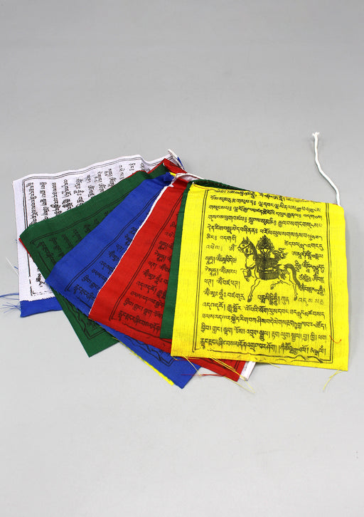 Five Rolls of Traditional Tibetan Windhorse Prayer Flags