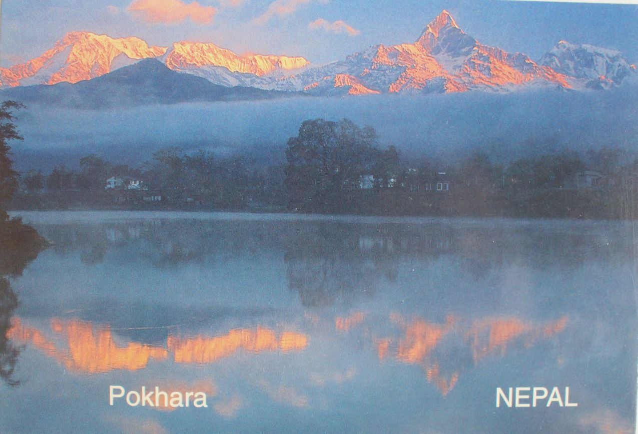 Picturesque Scene from Pokhara Nepal Postcard - nepacrafts