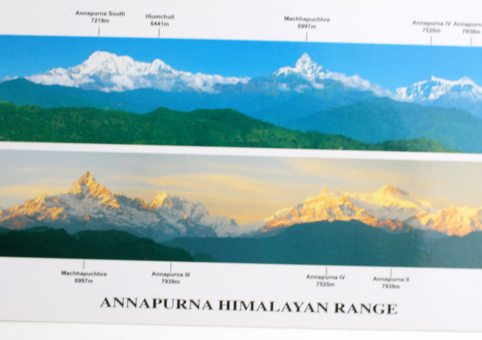 A Panoramic View of The Annapurna Himalayan Range