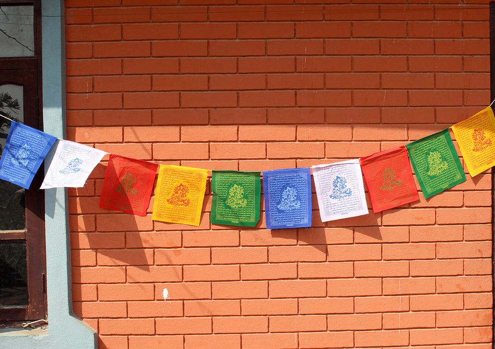 Green Tara Prayer Flags set