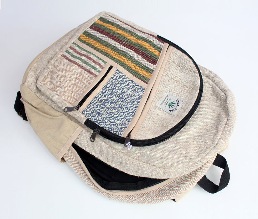 Natural Hemp Backpack with Adjustable Straps - nepacrafts