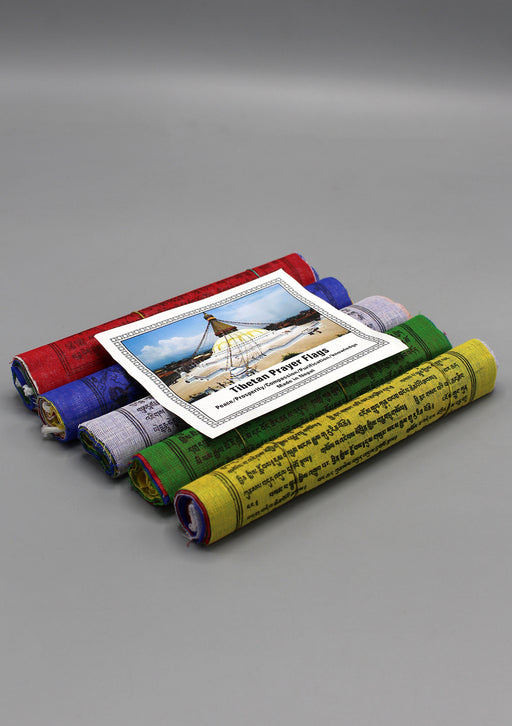 Tibetan Prayer Flags Mixed Deity Medium 10 Cotton Sheets