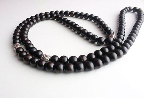 Rosewood Prayer Mala with Buddha Spacer - nepacrafts