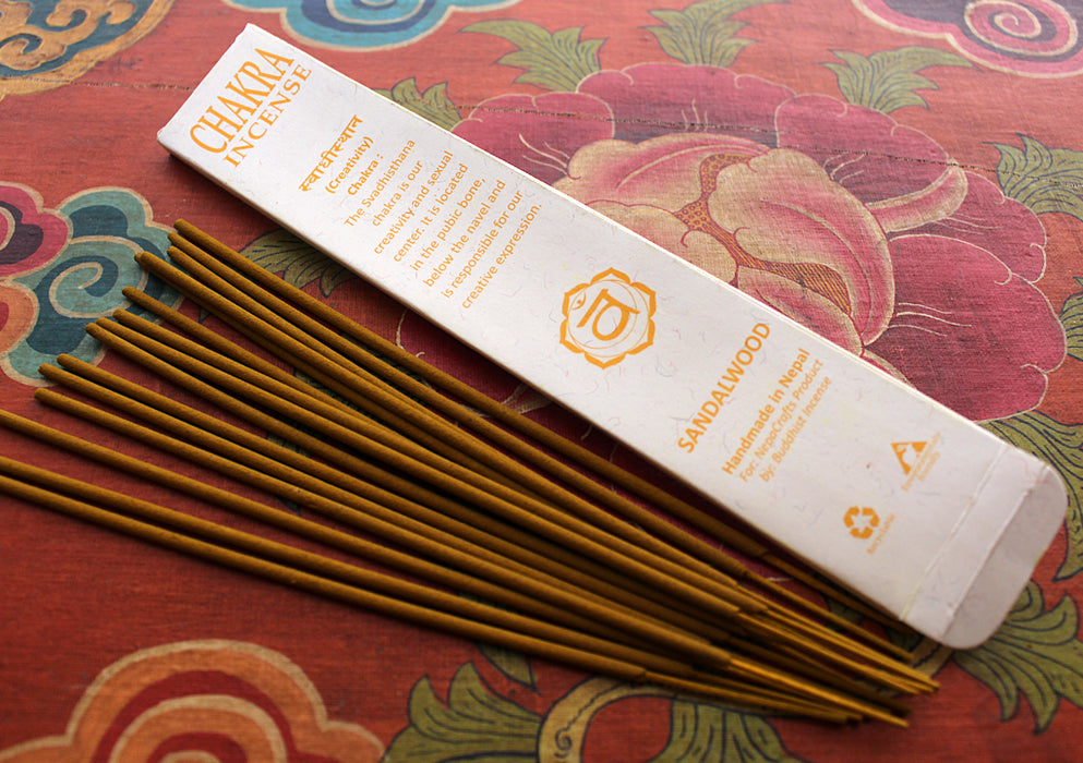 NepaCrafts Premium Sandalwood Navel Chakra Incense Sticks - nepacrafts