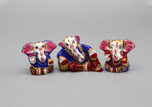 Hand Painted Lord Ganesh Mini Statue - nepacrafts