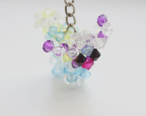 Beautifully Crocheted Puppy Resin Crystal Key chain - NepaCrafts