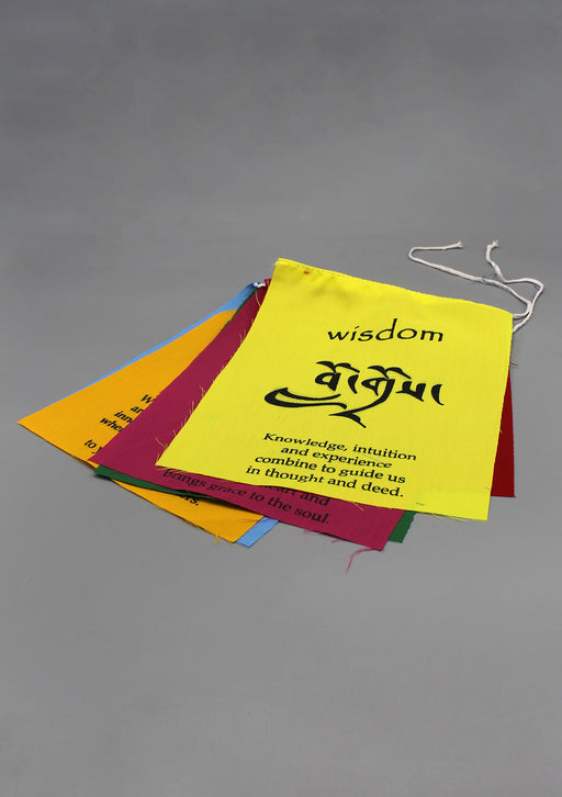Affirmation Prayer Flags-Peace, Happiness, Courage, Love, Tranquility, Wisdom