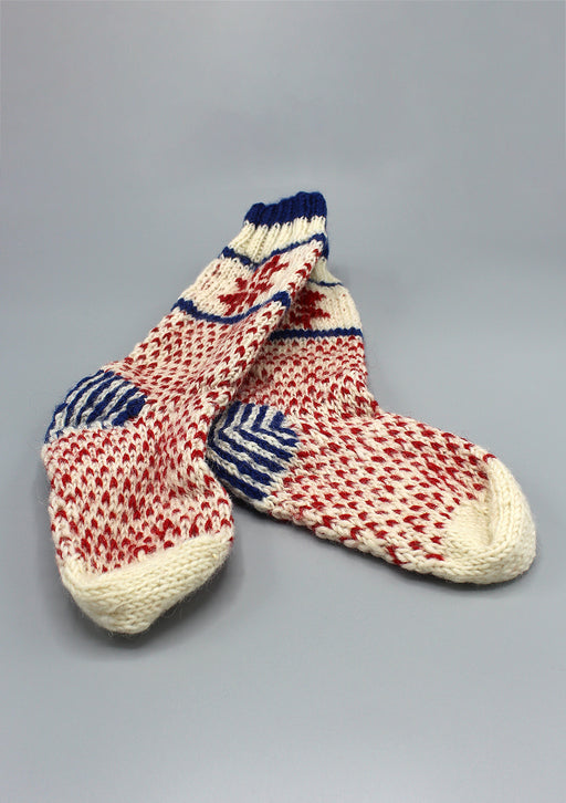 Snow Flake Childrens' Woolen Socks