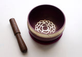 Crown Painted Singing Bowl with Cushion and Stupa Stick in a Gift Box - NepaCrafts