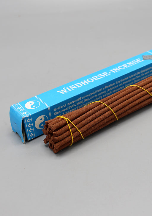 Windhorse Tibetan Incense with Sandalwood, Rhododendron, Saffron, Nagi