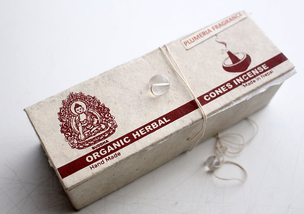 Nag Champa Organic Cone Incense - nepacrafts