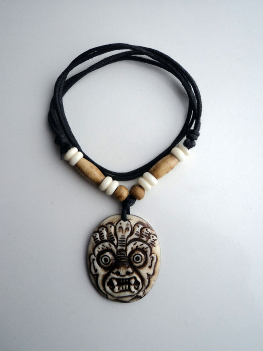 Hindu Bhairab Pendant Necklace - nepacrafts