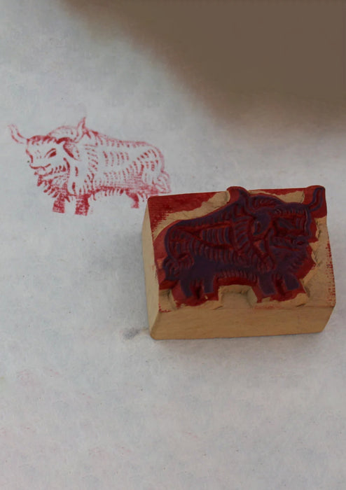 The Yak Mini Wooden Block Print
