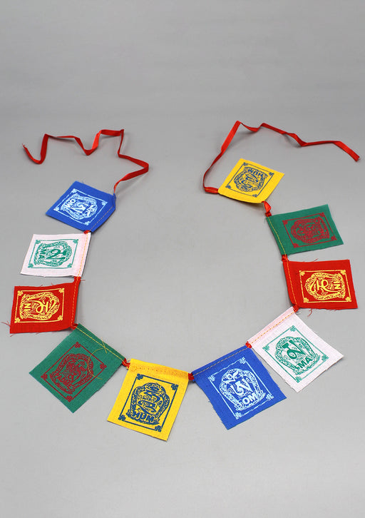 Om Mani Kalachakra Baby Cotton Prayer Flags