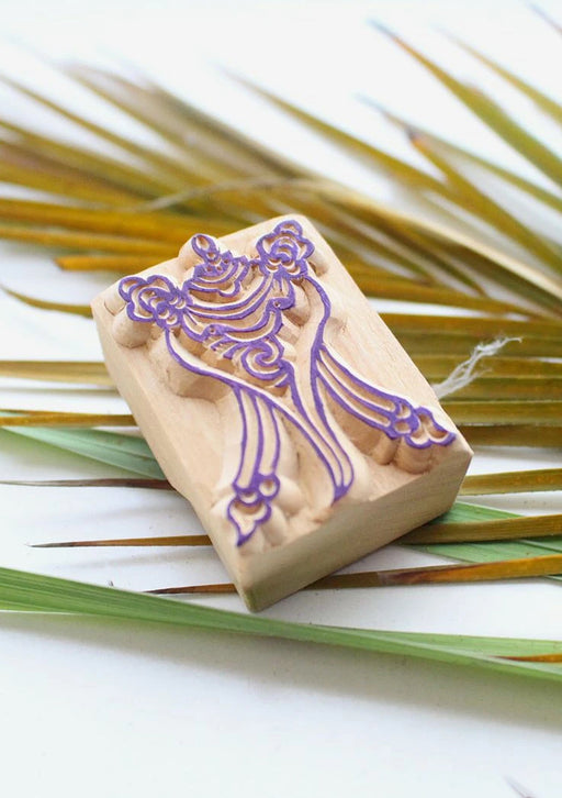 Tibetan Conch Wooden Stamp