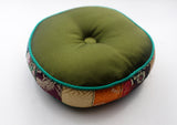 Colorful Handmade Silk Singing Bowl Cushion with Border