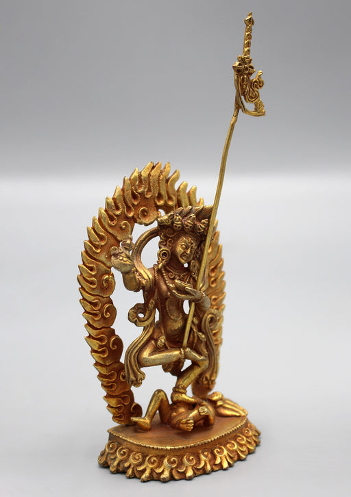 Goldplated Dancing Vajrayogini Statue - nepacrafts