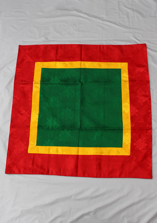 Green Silk Brocade Buddhist Shrine Cloth - nepacrafts