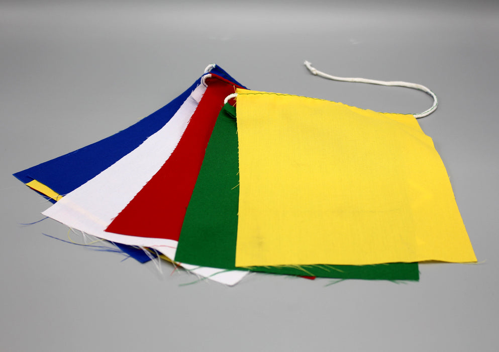 Tibetan Blank Cotton Prayer Flags, Set of 10 Flags - nepacrafts