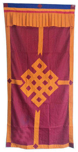 Tibetan Door Curtains-Endless Knot - nepacrafts