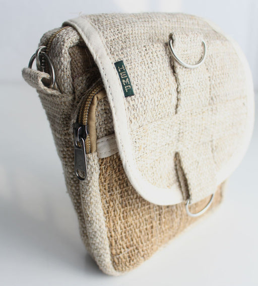 Natural Hemp Cross Body Carry Bag - nepacrafts