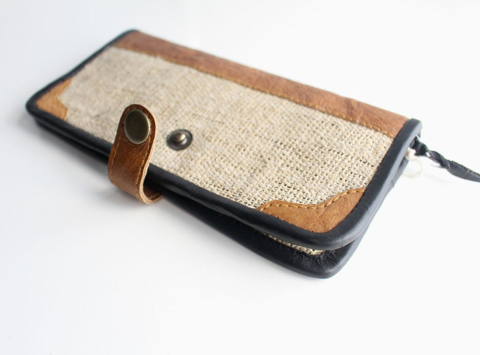 Ecofriendly Hemp Women's Clutch Purse - nepacrafts