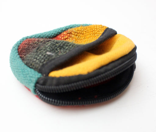 Round Cotton Hemp Coin Pouch - nepacrafts