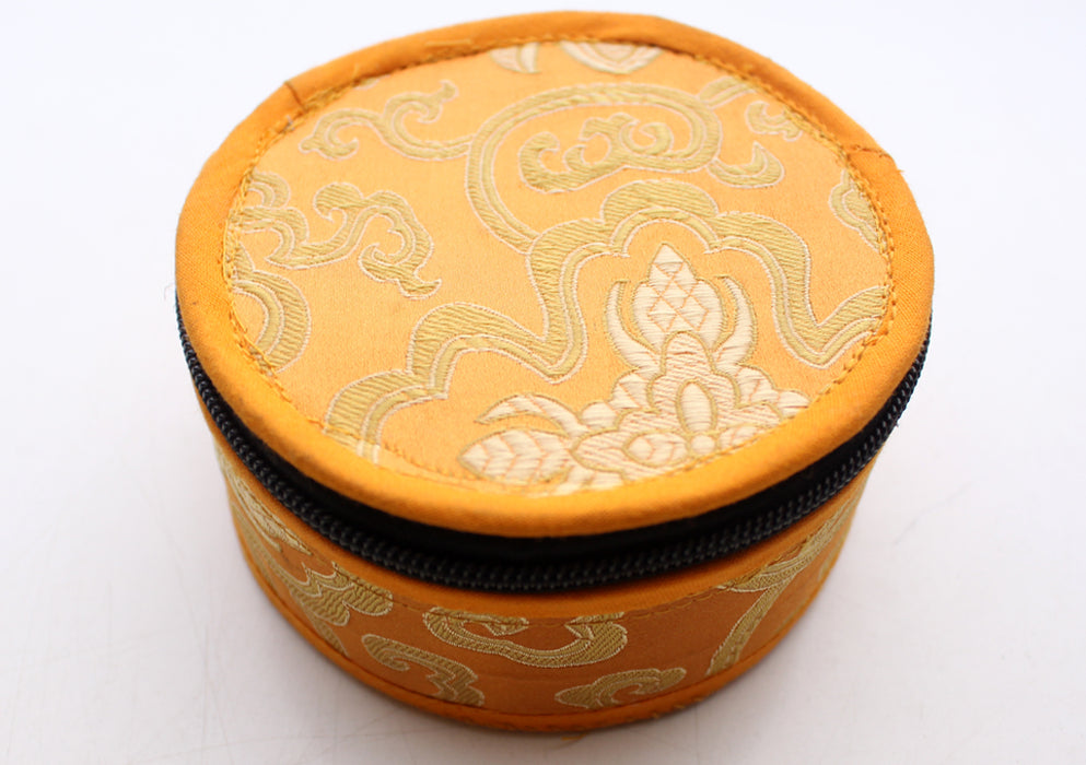 Chenrezig Painted Singing Bowl Set with Silk Brocade Gift Box - nepacrafts