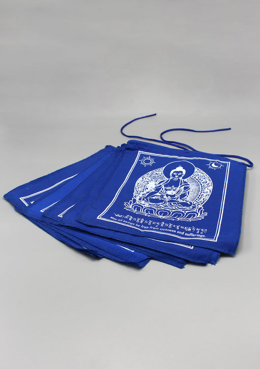 Blue Medicine Buddha Prayer Flags